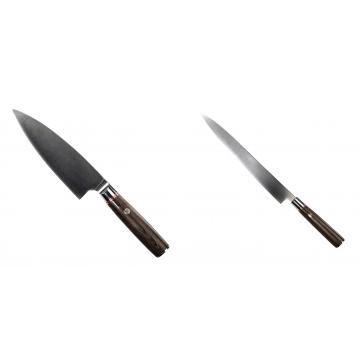 Kuchynský nôž Seburo MUTEKI Deba 160mm + Kuchynský nôž SEBURO MUTEKI Yanagiba 260mm