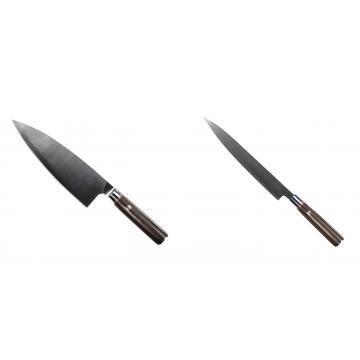 Kuchynský nôž Seburo MUTEKI Deba 200mm + Kuchynský nôž SEBURO MUTEKI Yanagiba 230mm