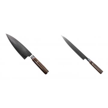 Kuchynský nôž Seburo MUTEKI Deba 180mm + Kuchynský nôž SEBURO MUTEKI Yanagiba 230mm