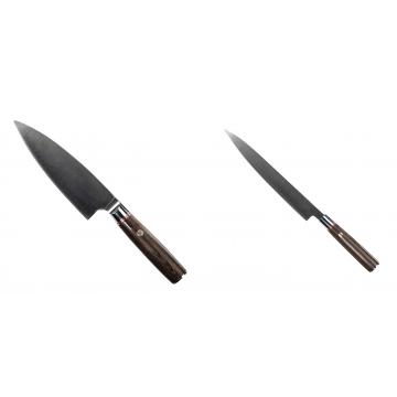Kuchynský nôž Seburo MUTEKI Deba 160mm + Kuchynský nôž SEBURO MUTEKI Yanagiba 230mm