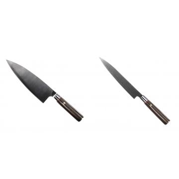 Kuchynský nôž Seburo MUTEKI Deba 200mm + Kuchynský nôž SEBURO MUTEKI Yanagiba 200mm