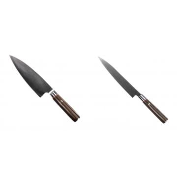 Kuchynský nôž Seburo MUTEKI Deba 180mm + Kuchynský nôž SEBURO MUTEKI Yanagiba 200mm