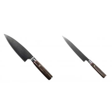 Kuchynský nôž Seburo MUTEKI Deba 160mm + Kuchynský nôž SEBURO MUTEKI Yanagiba 200mm