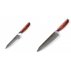 Japonský univerzálny nôž Dellinger Rose-Wood Damascus, 130mm +...