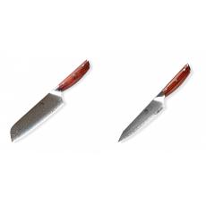 Japonský univerzálny nôž SANTOKU / Chef Dellinger Rose-Wood...