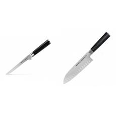 Vykosťovací nůž Samura MO-V (SM-0063), 150mm + Santoku nůž...