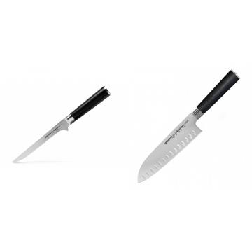 Vykosťovací nůž Samura MO-V (SM-0063), 150mm + Santoku nůž Samura Mo-V (SM-0094), 180mm