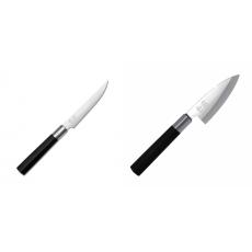 Steakový nôž KAI Wasabi Black, 110mm + Wasabi Black Deba KAI...