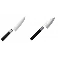 Wasabi Black Nôž šéfkuchára malý KAI 150mm + Wasabi Black Deba...