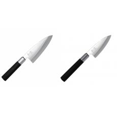 Vykosťovací nůž KAI Wasabi Black Deba, 155 mm + Wasabi Black...
