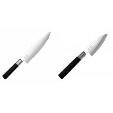 Wasabi Black Nôž šéfkuchára KAI 200mm + Wasabi Black Deba KAI...