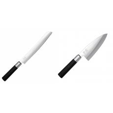 Wasabi Black Nôž na pečivo KAI 230mm + Vykosťovací nůž KAI...