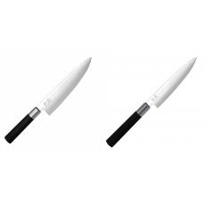 Wasabi Black Nôž šéfkuchára KAI 200mm + Univerzální nôž KAI...