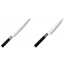 Wasabi Black Nôž na pečivo KAI 230mm + Univerzální nôž KAI...