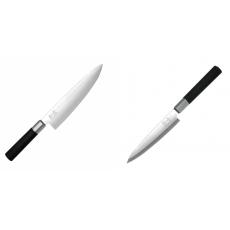 Wasabi Black Nôž šéfkuchára KAI 200mm + Plátkovací nůž KAI...